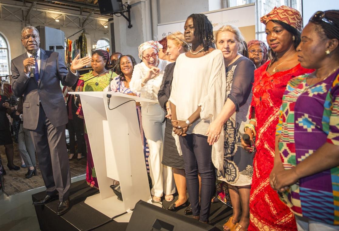 Dr. Denis Mukwege with participants. Photo: Mukwege Foundation/Jeppe Schilder