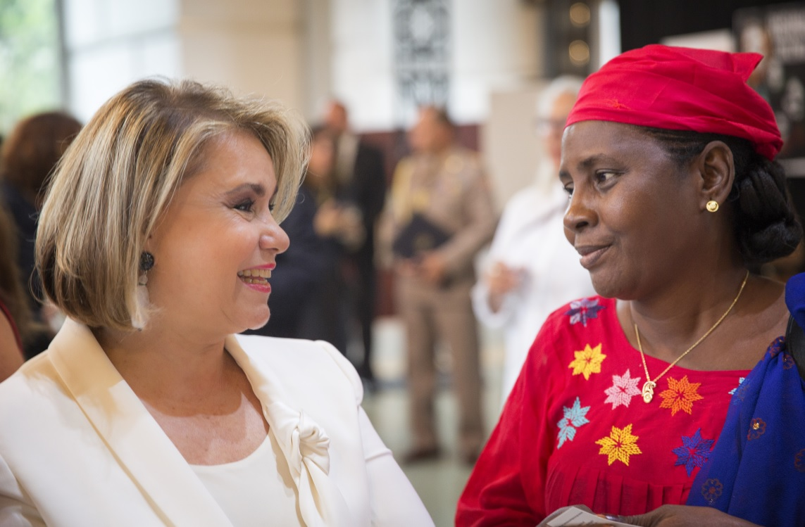 The Grand Duchess of Luxembourg with participants. Photo: Mukwege Foundation/Jeppe Schilder